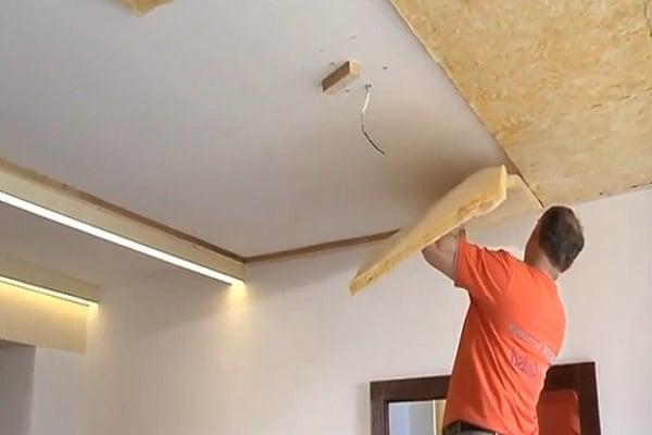как сделать звукоизоляцию потолка в квартире